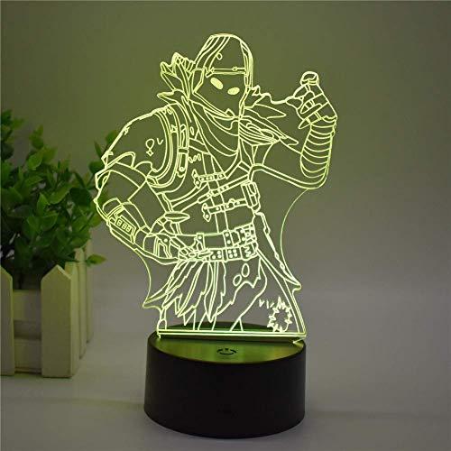 Novelty lamp 3D Stereo Vision LED Nachtlicht USB Touch 7 Farben/Fernbedienung 16 Farbe Schlafzimmer Tischlampe Kreatives Home Office Dekoration Spiel Modell Spielzeug Geschenk (Office Für Halloween-spiele)