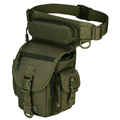 Freedom-vp Dammen Herren Military Tactical Hüfttasche Beintasche für Reisen Radfahren Bergsteigen Sports Outdoor Tasche (Grün) -