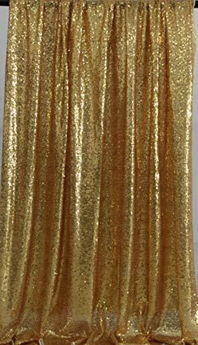 Kate Foto Hintergrund Gold Garn bedeckt Pailletten Fotografie Studio Fotografie Hintergrund glänzend Party Dekoration Glitzer Vorhänge 4x7ft / 1.25x2.2m