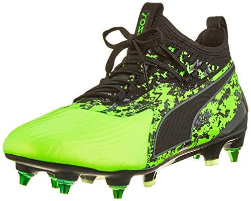 Puma Herren ONE 19.1 Mx SG Fußballschuhe, Grün (Green Gecko Black-Charcoal Gray), 43 EU (Puma Fußballschuh Sg)