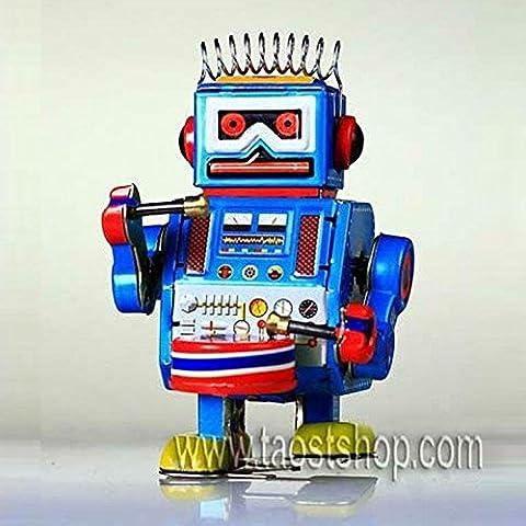 MS408 batería retro del robot de viento de hasta Tin Toy Regalo de colección del mecanismo