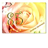 DigitalOase Glückwunschkarte 85. Geburtstag Geburtstagskarte Grußkarte Format DIN A4 A3 Klappkarte PanoramaUmschlag #ROSE
