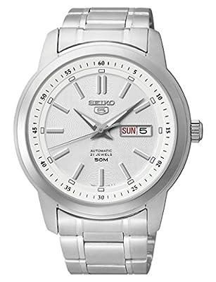 Seiko Reloj Análogo clásico para Mujer de Cuarzo con Correa en Acero Inoxidable SNKM83K1