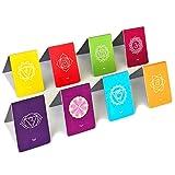 Chakra Magnetische Lesezeichen mit Zeigern (auf Deutsch) Wunderschönen Mandalas, Farbenfroh mit Informationen zu Chakren (2.7 cm x 4 cm gefaltet, 8-Teile)