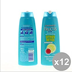Set 12Fructis Shampoo 250antif.Citrus Detox Kompatible für Haar