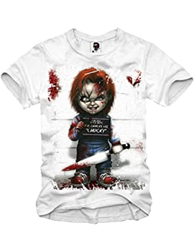 E1SYNDICATE T-SHIRT CHUCKY GHOSTBUSTERS CRITTERS JAWS HALLOWEEN SCARFACE EVIL XS-XXL