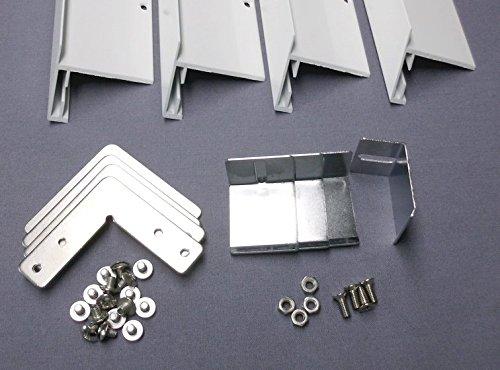 Montageset Einbaurahmen – weiß – 60×60 - 5