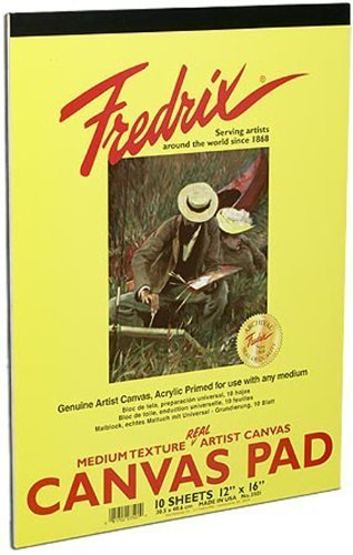 Fredrix Pad (Fredrix 3500 Canvas Pads, 9 by 12-Inch by Tara Materials Inc.)