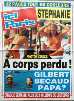 AFFICHE DE PRESSE - STEPHANIE DE MONACO - GILBERT BECAUD - BECAUD.