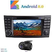 """Android 8.0 Car Autoradio, Hi-azul In-dash 2 Din 8-Core 64Bit RAM 4G ROM 32G Car Radio 7"""" Autonavigation Kopfeinheit Car Audio mit 1024 * 600 Multitouch-Bildschirm und DVD Player Moniceiver für Mercedes-Benz E-W211/E200/E220/E240/E270/E280 Unterstützen Lenkradkontrolle, RDS Radio Tuner (mit DVR)"""