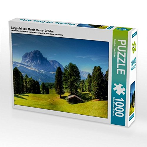Langkofel vom Monte Stevia - Gröden 1000 Teile Puzzle quer (CALVENDO Orte) Preisvergleich