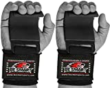 WRIST STRAPS WRAPS HOOK WEIGHT LIFTING TRAINING GYM BAR LIFT SUPPORT GLOVES (Free Delivery UK)