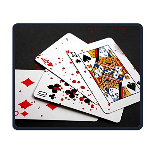 ASKSSD Mouse Pad Bloody Cards Rectangle Non-Slip 9.8in11.8 in Personalized Designs Gaming Rubber Mousepad Stitched Edges Mouse Mat