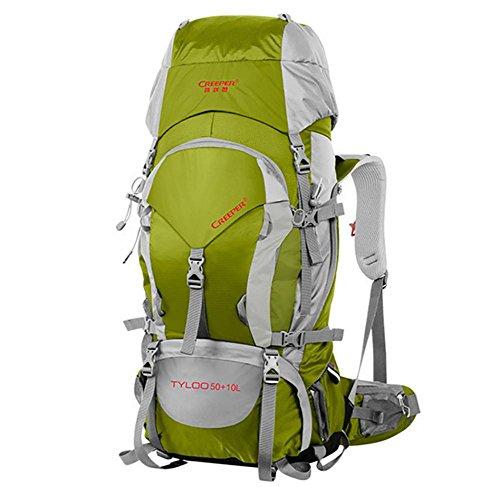 ROBAG 60L Wandern outdoor Rucksack Pack wasserdichter Rucksack Umhängetaschen für Männer und Frauen zu Fuß Pack dark gold 60 liters