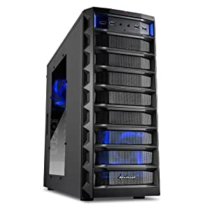 Sharkoon Rex 8 Value Midi-Tower PC-Gehäuse (ATX, 4x 5,25 externe, 4x 2,5/3,5/5,25 interne, 2x USB 3.0) schwarz