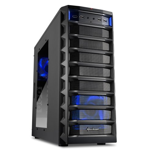 Sharkoon Rex 8 Value Midi-Tower PC-Gehäuse (ATX, 4x 5,25 externe, 4x 2,5/3,5/5,25 interne, 2x USB 3.0) schwarz