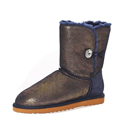 Boot à SKUTARI Bottes femme enfiler Bleu Bleu wqd6dgA