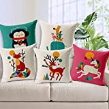 #7: Style Crome Wintage High Resolution Printed Cushion Cover 16X16 (Set Of 5)