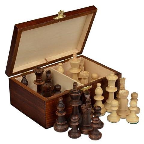 Staunton No. 5 Tournament Chess Pieces w/ Wood