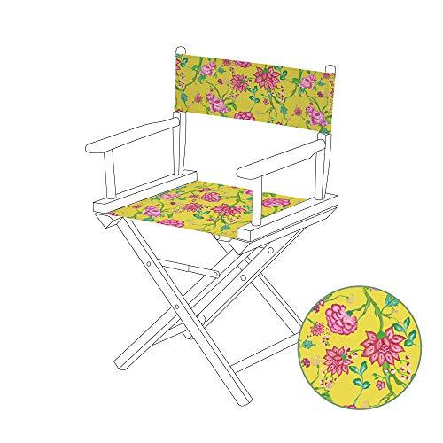 Gardenista Wasserabweisend Chintz Gelb Design Regiestuhl Ersatz Leinwand Abdeckung