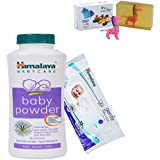 Himalaya Herbals Baby Powder (400g)+Himalaya Herbals Gentle Baby Wipes (72 Sheets) With Happy Baby Luxurious Kids Soap With Toy (100gm)