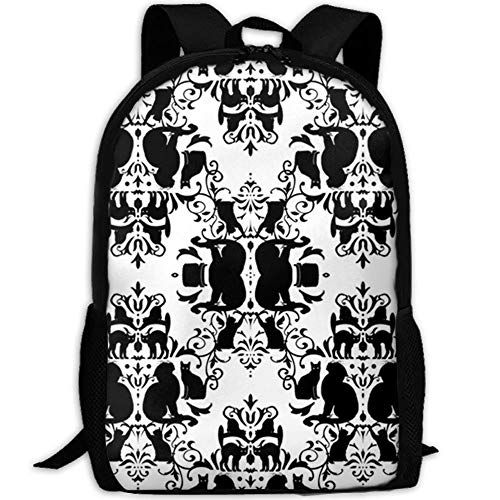 t Damask Waterproof School Bag Durable Travel Camping Backpack for Boys and Girls ()