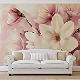 Magnolien Rosa - Forwall - Fototapete - Tapete - Fotomural - Mural Wandbild - (3505WM) - XXL - 312cm x 219cm - VLIES (EasyInstall) - 3 Pieces