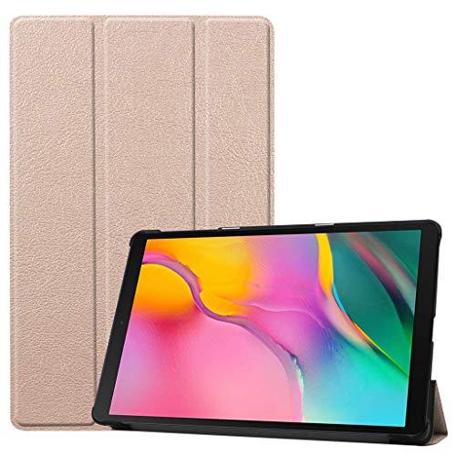 jfhrfged Tri-fold Standplatz-Ledertasche für Samsung Galaxy Tab A 10.1 2019 SM-T515 / SM-T510 (Rose Gold) (Galaxy Tab Skinomi Tablet)