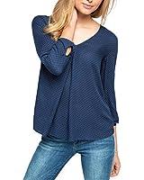 ESPRIT Collection softe Qualität - Blouse - coupe droite - Manches Longues - Femme