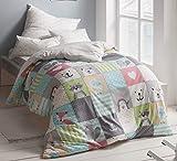 Estella Mako Interlock Jersey Kinderbettwäsche Samy Azur 100x135 cm + 40x60 cm
