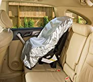 Car Seat Sun Shade Cover - Keep Your Baby's Carseat at a Cooler Temperature - Covers and Blocks Out Heat &