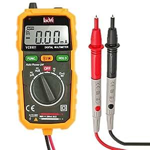 LAOYE Multimetro Digitale Autorange Tester Tensione AC DC Corrente Resistenza Diodo Transistore con LCD Retroilluminazione Digital Multimeter Voltmetro Amperometro