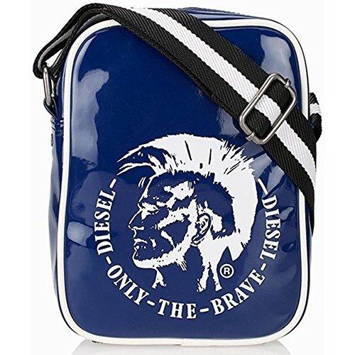 DIESEL Slim Richie Tasche Umhänge-Tasche Schulter-Tasche Blau X03220