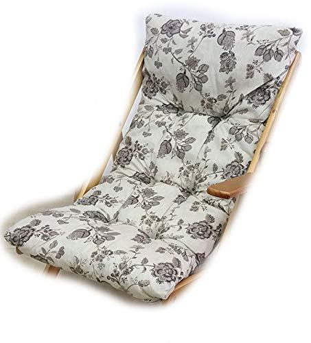Totò piccinni cuscino imbottito di ricambio per poltrona sedia sdraio harmony relax, 105x55x14cm (grigio floreale)