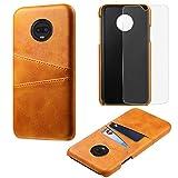fitmore Xiaomi Mi Mix 3 Hülle, [Tragbare Geldbörse] [Slim Fit] Hochleistungsschutz Rückseite Flip-Schutzhülle Hülle Ersatz für Xiaomi Mi Mix 3 - Orange