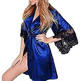 eb513b55f Body Lingerie Sexy ASHOP Donna Sexy Kimono di Seta Dressing Babydoll Lace  Lingerie Cintura da Bagno
