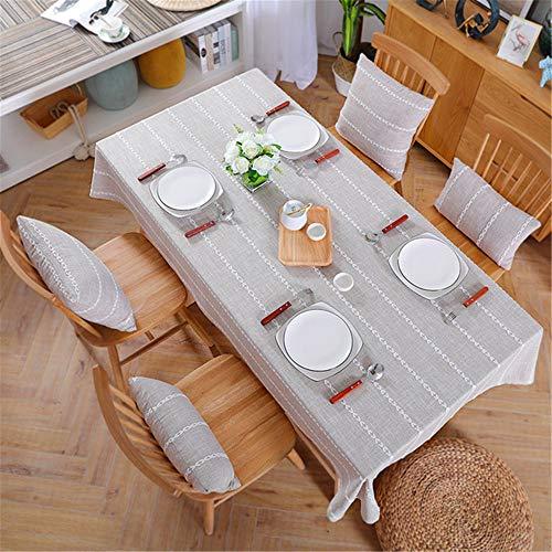SONGHJ Leinen Tischdecke Landhausstil Plaid Print Multifunktionale Rechteck Tischdecke Tischdecke Home Küche Dekoration D 130x130 cm (Dollar Tischdecken Store)