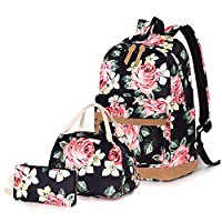 School Bags Backpack Set Teen Girls Bookbag with Lunch Box Bag and Pencil Case for 14inch Laptop