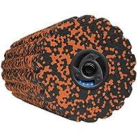 Preisvergleich für Medisana PowerRoll Soft, Faszienrolle mit Tiefenvibration, 4 Intensitätsstufen Massagerolle, schwarz/Orange, 15,5 x 15,5 x 36,5 cm