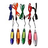 Tandou Niedlicher Kawaii Kunststoff-Kugelschreiber, kreatives Licht, mit Notizblock, Geschenk für Kinder