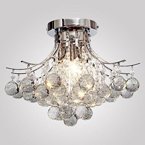 Moderne K9 Kristall-Kronleuchter 3 Licht (Chrome), Mini Style, für Montage von Leuchte Decke für, Speisezimmer, Schlafzimmer, Gästezimmer -