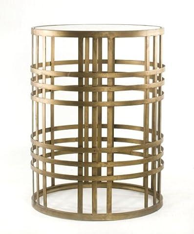 Die Reise ins Ich Luxus Produkte Weave Ende Tisch, Metall, Satin Gold