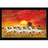 PAF Horse Framed Wall Art Paintings (12X18-inch, Wood 35x2x50 Cm, Multicolour)