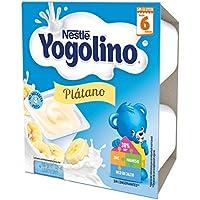 Nestlé Yogolino Postre lácteo con Plátano, Para bebés a partir de 6 meses, Paquete