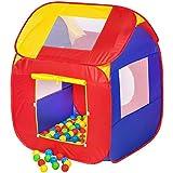 TecTake Carpa de juegos con 200 bolas piscina de bolas carpa infantil