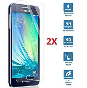 2 X Samnsung A3 2016 Film Protection en Verre Trempé écran Protecteur Glass Screen Protector