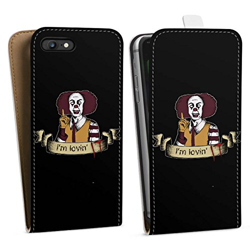Apple iPhone 7 Plus Silikon Hülle Case Schutzhülle ES Clown Horror Downflip Tasche weiß