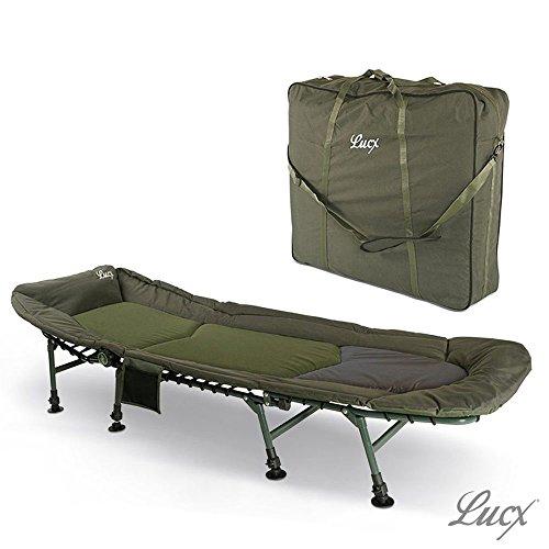 Lucx® Set / Karpfenliege / Angelliege 8-Bein + Tragetasche / Transporttasche für Liege / Bedchair Bag 'XXL'