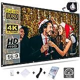 Schermo per proiettore KPCB 16: 9 HD 4K pieghevole pieghevole resistente, adatto per home cinema e film esterno (84 pollici)
