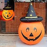 NINI Halloween-Dekorationen, Aufblasbares Kürbiszubehör, Magische Kappen, Lichtemittierende Spitzen, Hut, Stützen, Kindergartenschulspeicher